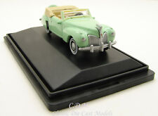 Oxford 1941 Lincoln Continental Paradise Green Die-Cast Metal Car 1/87 HO Scale