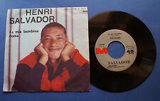 Henri Salvador - La mia bambina Roma - Meazzi ed Discografiche - 45 giri