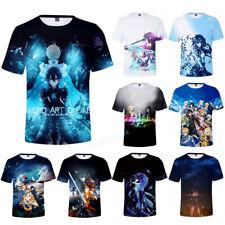 Sword Art Online Anime T-Shirt Men Women Summer Casual Short Sleeve Tee Tops