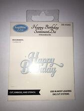 JustRite  'Happy Birthday Sentiment Die'