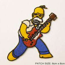 "HOMER SIMPSON ""Rock Star"" - Iron-On Embroidered Patch"