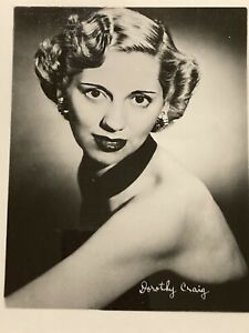 Dorothy Craig 4x5 Publicity Photo