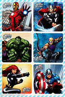 Avengers Stickers x 6 - Birthday Party Favours - Marvel Avengers Party Supplies