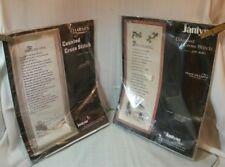 "2 Janlynn Counted Cross Stitch Kit FOOTPRINTS 64-1 Peace on Earth  70-1 9"" x 24"""