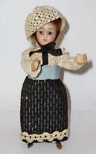 Vecchio Bambola con testa di porcellana per casa delle francia 17cm Bambolina