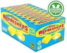 SWEETS SWIZZELS LEMON REFRESHER SUPER SOFT CHEWS FULL BOX OF 36 VEGETARIAN