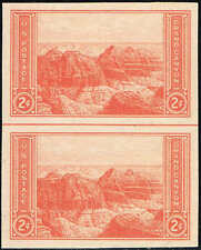 #757  VERTICAL PAIR/HORIZONTAL LINE 1935 2c PARKS FARLEY ISSUE MINT-NH/NGAI