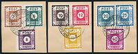 SBZ, MiNr. 42-50 D I mit 43 b und 44 b, Briefstücke, gepr. Ströh, Mi. 348,-