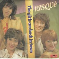 "RISQUE "" THE GIRLS ARE BACK IN TOWN / RISQUE' DISCO "" 7"" MADE IN ITALY"