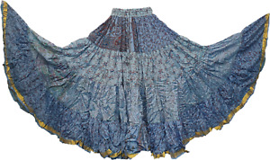 Belly Dance 25 yards Silk Dance Party Skirt Tribal One Size 8 10 12 14 16 18 20