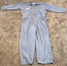 Vintage Wearguard Aramark Denim Coveralls, Size 52R, Weyerhauser