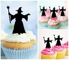 TA1008 Magician Wizard Party Acrylic Cupcake Picks Topper 10 pcs