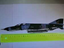 Großer gestickter Aufnäher der   F-4 Phantom 38-10  ca 30 x  7  cm zum aufnähen