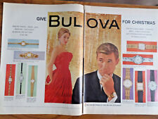 1959 Bulova Watches Ad Shows 10 Models for Christmas
