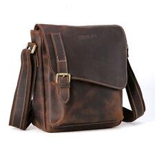 Vintage Satchel Mens Genuine Leather Sling Shoulder Messenger Bag Book Schoolbag