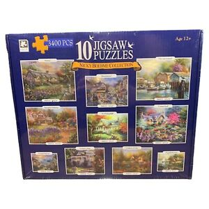 Nicky Boehme Collection - 3400 PCS - 10 Jigsaw Puzzles - Brand New SEALED Set