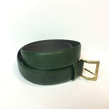 Green Steerhide Belt Made In Australia by Lancer NSW Snake Skin Look Size 38
