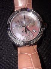 Valentino stainless steel swiss movent multi diamond chronograph.