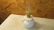 Old Milk Glass Small Oil Lamp