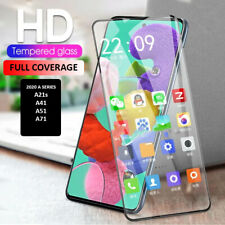 For Samsung Galaxy A21s A41 A51 A71 Full Cover Tempered Glass Curved Protector