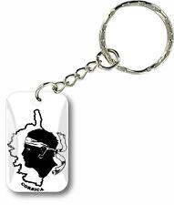Porte clés clefs drapeau voiture moto maison corse tête de maure ile de beauté