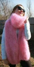 Premium Longhair Mohair Scarf hand knitting Light pink Jane Rodas