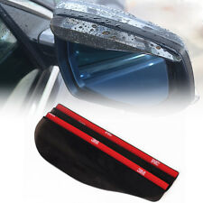 Universal Black Rearview Side Mirror Water Guard Rain Board Eyebrow Visor Shield