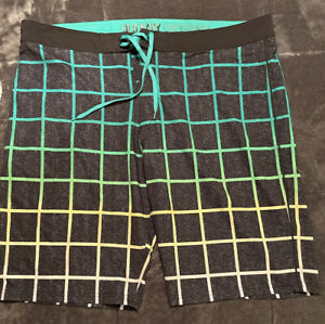 Men's Green & Yellow Plaid Drawstring Bathing Suit From Old Navy, Size 44 Tall