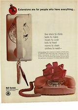 1965 BELL SYSTEM Pink Princess Telephone Vintage Print Ad