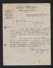 LIMBACH, Brief 1922, Otto Meister Mechanische Weberei