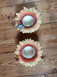 Partylite Teelichthalter Kerzenständer Blume Schmetterling Sonnenblume