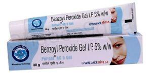 Benzoyl Peroxide Gel 5% Persol for Acne Vulgaris Spots Pimple Blackhead-30g