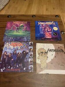 MEGADEATH - ANTHRAX AND METALLICA 7 Inch Vinyl Singles.