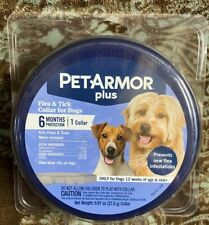 Pet Armour Plus for dogs Flea & Tick 1 Pack Collars NEW