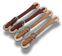 Tough-1 Leather Western Spur Straps with Reinforced Rawhide Tips Horse Tack