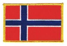 Norwegen Aufnäher Flaggen Fahnen Patch Aufbügler 8x6cm