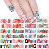 12 Patterns Nail Water Decals Christmas Tree Snow Deer Nail Art Transfer Sticker