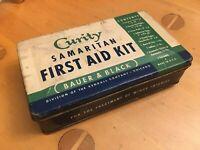 Vintage 1940/50's Curity Samaritan First Aid Kit Bauer & Black Kendall Chicago