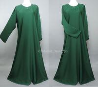 Dubai Abaya Classic Everyday Muslim Women Dress Nida Emerald Green