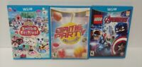 Nintendo Wii U 3 Game Lot Tested -  Game Party Lego Avengers Animal Crossing