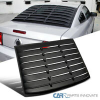 For 05-14 Mustang GT V6 V8 Matte Black ABS Rear Window Louver Sun Shade Cover