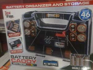 Battery Caddy 48 Battery Organizer and Storage Case Caddy w/ Tester