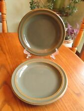 "Dansk Sirocco Spruce Green 2 salad luncheon plates 9"""