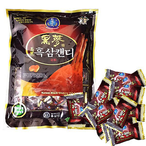Hongsamin Korean Black Ginseng Candy Healthy Red Saponin Extract Root 28.3 oz