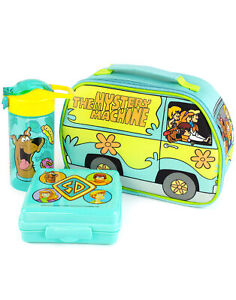 Scooby-Doo Lunchbox Mystery Machine Lunch Bag Bottle and Snack Pot Set One Size