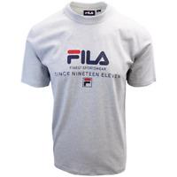 FILA Men's Grey Finest Sportswear Since Nineteen Eleven S/S T-Shirt (S04B)