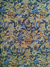 Kensington Kent Avery Fabric 2.5 yds Blue on Yellow Floral Print Cotton Quilting