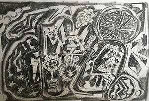 Modernism Drawing Painting Abstract Original Art Signed