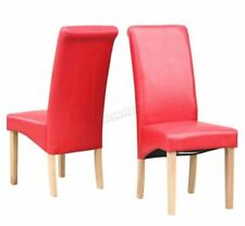 Chaises rouge contemporains pour la salle à manger