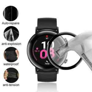 For Huawei Watch GT 2 42mm Tempered Glass Screen Protector 3D Black